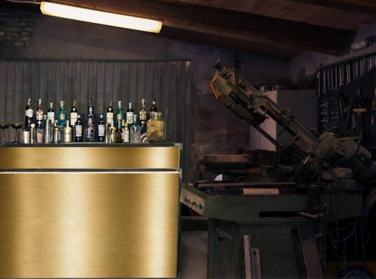 Satin Brass Desk